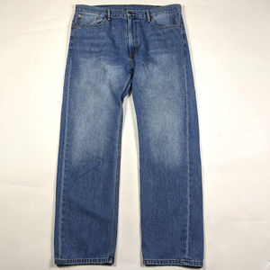 Levi's 505 Regular Fit Straight Leg 40 X 32 Jeans